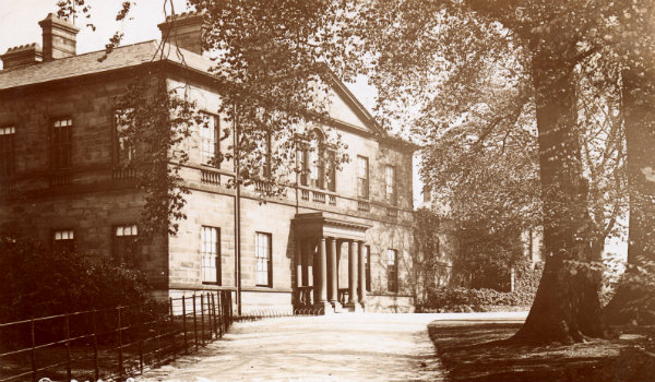 Historical view of Clifton House from the front of the building.